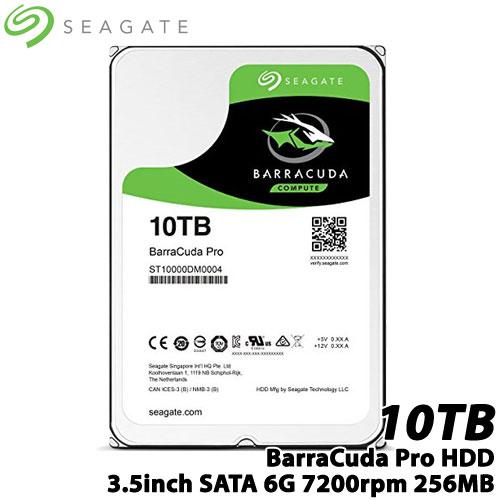SEAGATE(シーゲート) ST10000DM0004 [BarraCuda Pro(10TB HDD 3.5インチ SATA 6G 7200rpm 256MB)]【内蔵ハードディスク】