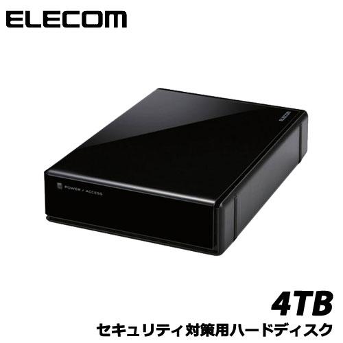 エレコム ELD-EEN040UBK[USB3.0外付HDD/HW暗号化/PW保護/4TB]
