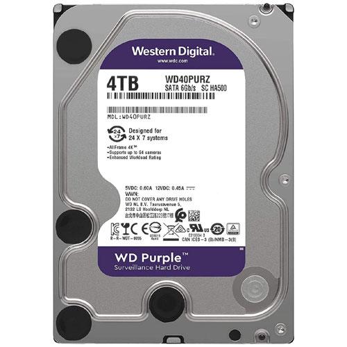 ウエスタンデジタル WD40PURZ [WD Purple(4TB 3.5インチ SATA 6G 5400rpm 64MB)]【内蔵ハードディスク】