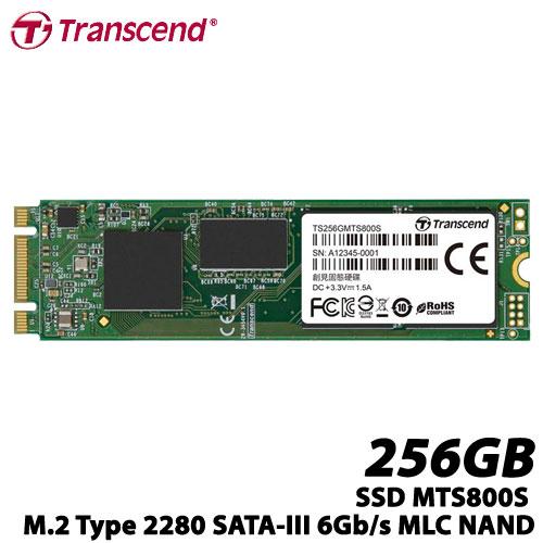 トランセンド TS256GMTS800S [256GB SSD MTS800S M.2 Type 2280 SATA-III 6Gb/s MLC NAND]
