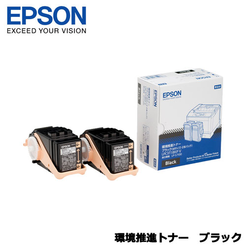 EPSON LPC3T18KPV [LP-S7100用 環境推進トナー/ブラック/Mサイズ2個パック(5500ページ×2)]