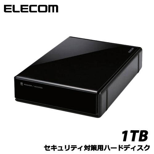 エレコム ELD-EEN010UBK [USB3.0外付HDD/HW暗号化/PW保護/1TB]