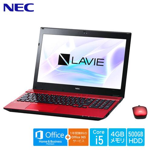 NEC PC-SN254HRAB-2 [LAVIE Smart NS(S) Core i5-7200U 4GB 500GB DSM 15.6型 H&B+365 レッド]