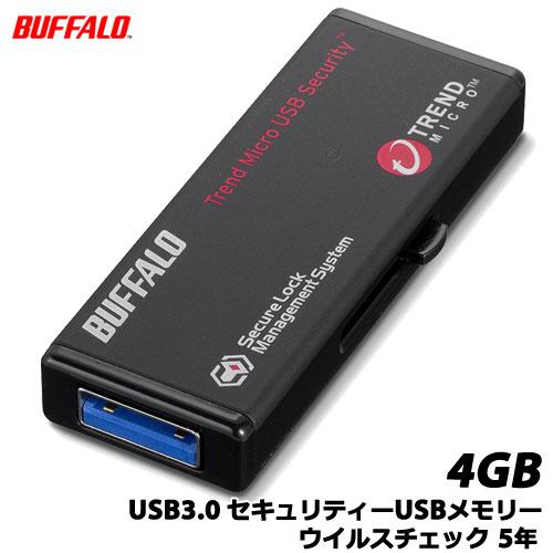 BUFFALO RUF3-HS4GTV5 [USB3.0 セキュリティーUSBメモリー ウイルスチェック 5年 4GB]