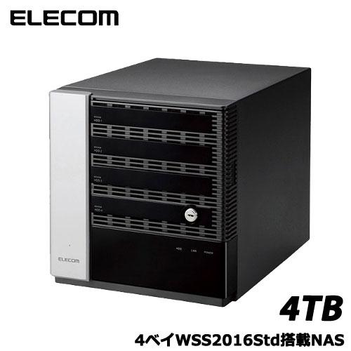 エレコム NSB-75S4T4DW6 [WSS2016 Wg搭載NAS/4Bay/Cube型/4TB]