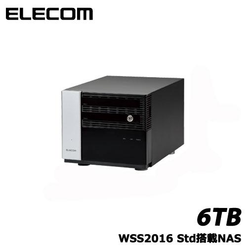 エレコム NSB-7MS6T2CS6 [WSS2016 Std搭載NAS/2Bay/Cube型/6TB]