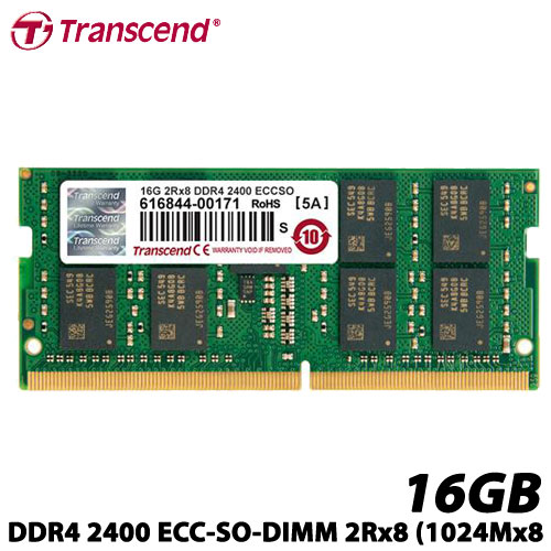 トランセンド TS2GSH72V4B [16GB DDR4 2400 ECC-SO-DIMM 2Rx8 (1024Mx8)]