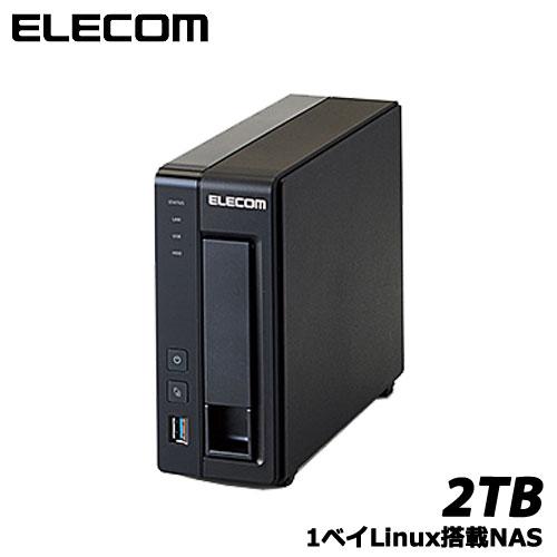 エレコム NSB-5A2T1BL [LinuxNAS/1Bay/2TB/NetStor5シリーズ]