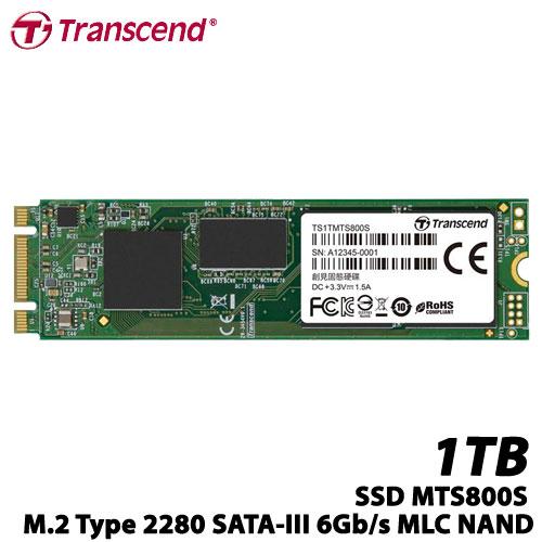トランセンド TS1TMTS800S [1TB SSD MTS800S M.2 Type 2280 SATA-III 6Gb/s MLC NAND]