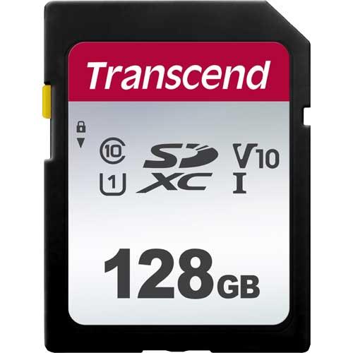 最安値 在庫僅少 トランセンド TS128GSDC300S 128GB SDXC 300S チープ V30 10 Class UHS-I U3 対応