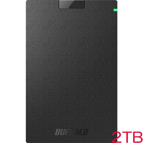 バッファロー MiniStation HD-PCG2.0U3-GBA [USB3.1(Gen.1)対応 ポータブルHDD ブラック 2TB]