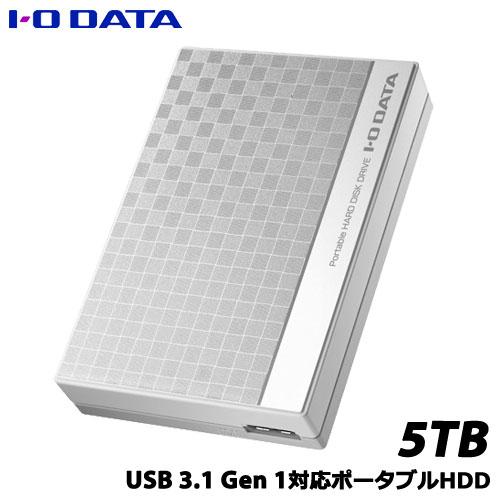 アイオーデータ EC-PHU3W5D [USB 3.1 Gen 1(USB 3.0)/2.0対応ポータブルハードディスク5TB]