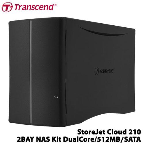 トランセンド TS-SJC210N [2ベイ NAS StoreJet Cloud 210 デュアルコアCPU 512MBメモリ SATA対応]