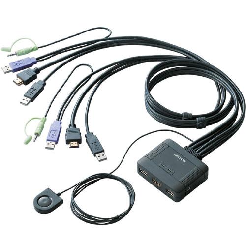 エレコム KVM-HDHDU2 [フルHD対応 HDMI対応パソコン切替器]