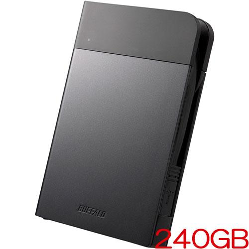 バッファロー SSD-PZN240U3-BK [ICカードロック解除 ポータブルSSD 240GB ブラック]