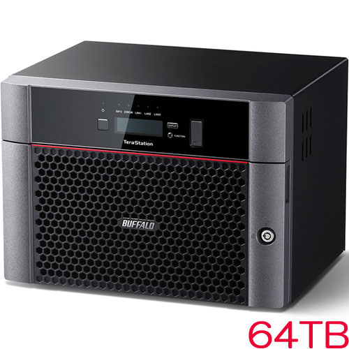 バッファロー TeraStation TS5610DN TS5810DN6408 [10GbE標準搭載 8ドライブNAS 64TB]