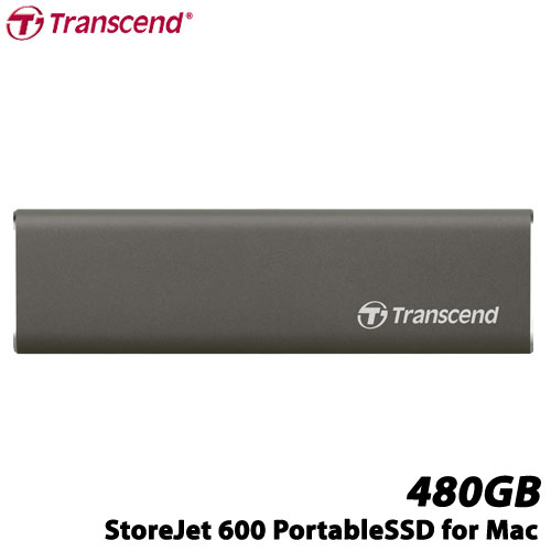 トランセンド TS480GSJM600 [480GB StoreJet 600 USB 3.1 Type-C対応 ポータブルSSD]