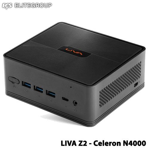 ECS LIVAZ2-4/32-W10(N4000) [小型PC Celeron N4000/メモリ4GB/eMMC 32GB/GbE/11ac/Win10 Home 64bit]
