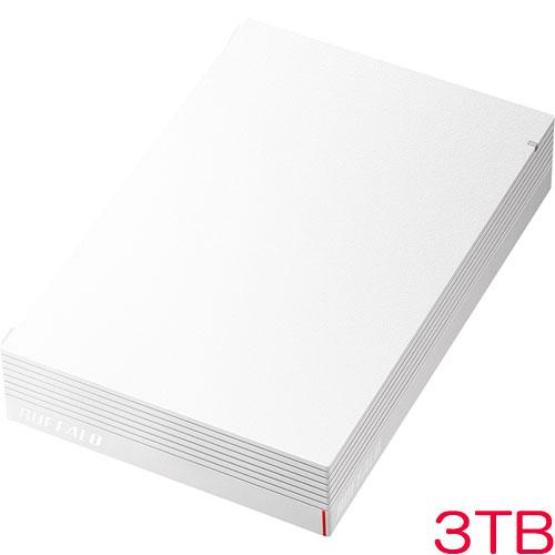 バッファロー HD-LDS3.0U3-WA [USB3.1 みまもり合図 外付HDD 3TB ホワイト]