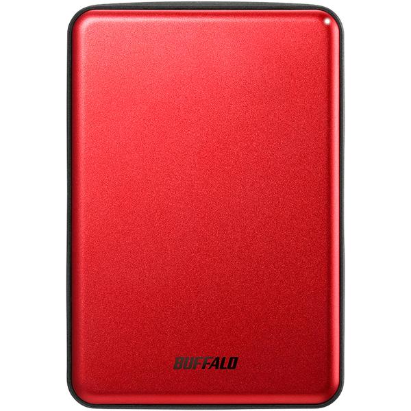 バッファロー MiniStation HD-PUS1.0U3-RDD [USB3.1 アルミ素材&薄型ポータブルHDD 1TB レッド]
