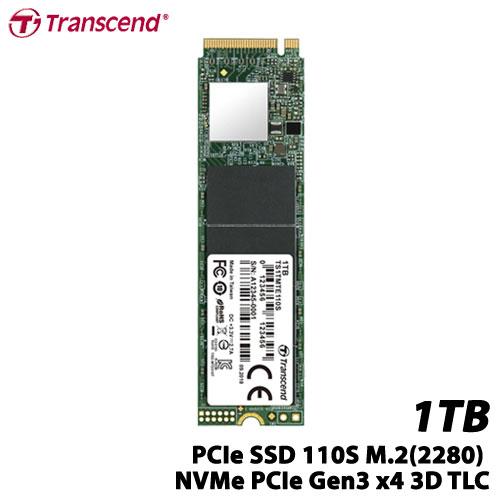 トランセンド TS1TMTE110S [1TB PCIe SSD 110S M.2(2280) NVMe PCIe Gen3 x4 3D TLC]