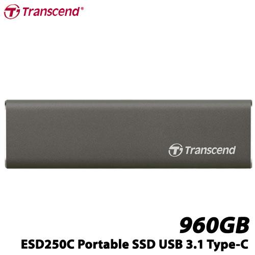 トランセンド TS960GESD250C [960GB ポータブルSSD ESD250C USB 3.1 Type-A/Type-C]