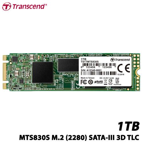 トランセンド TS1TMTS830S [1TB SSD MTS830S M.2 Type 2280 SATA-III DDR3キャッシュ 3D TLC NAND 5年保証]