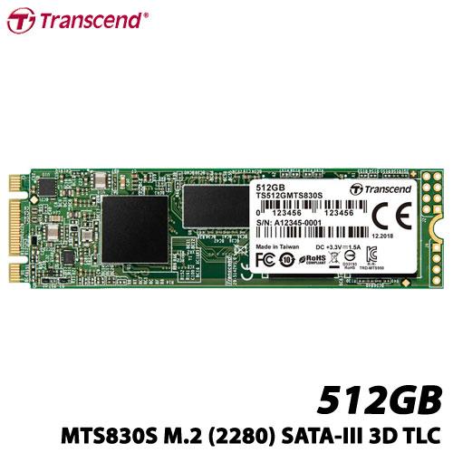 トランセンド TS512GMTS830S [512GB SSD MTS830S M.2 Type 2280 SATA-III DDR3キャッシュ 3D TLC NAND 5年保証]