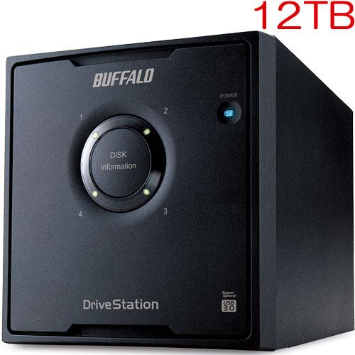 バッファロー HD-QL12TU3/R5J [ドライブステーション RAID5機能搭載 USB3.0用 外付けHDD 4ドライブモデル 12TB]