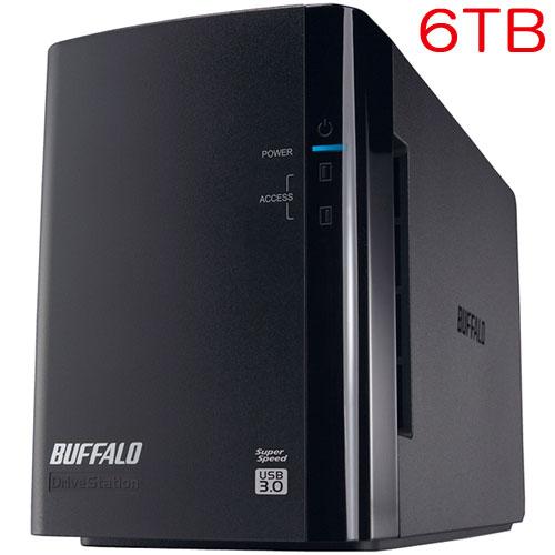 バッファロー HD-WL6TU3/R1J [ドライブステーション ミラーリング機能搭載 USB3.0用 外付けHDD 2ドライブモデル 6TB]