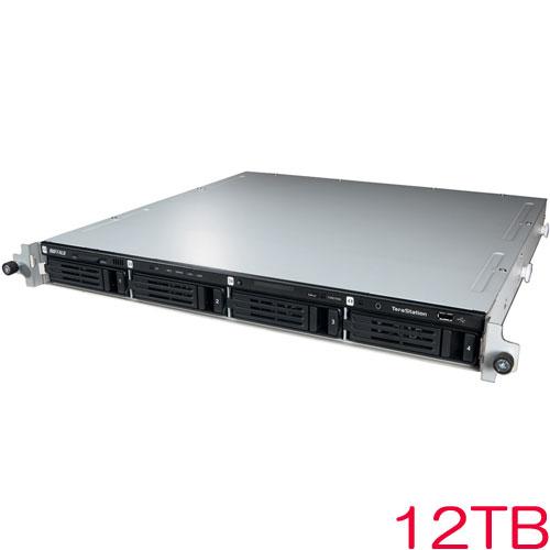バッファロー TeraStation 3400RN TS3400RN1204 [管理者・RAID機能 4ドライブNAS ラックマウント 12TB]