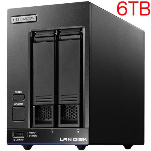 アイオーデータ HDL2-X6 [高性能CPU&「WD Red」搭載 2ドライブNAS 6TB]