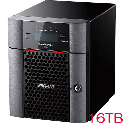 バッファロー TeraStation WSS WS5420DN24S6 [WSS2016 SE 4ドライブNAS 24TB]