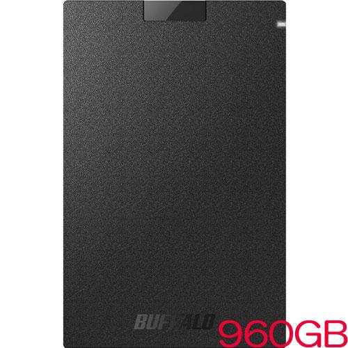 バッファロー SSD-PGC960U3-BA [USB3.1 ポータブルSSD Type-Cケーブル付 960GB]