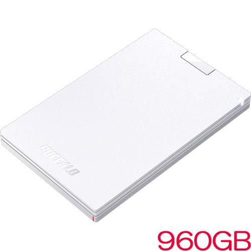 バッファロー SSD-PG960U3-WA [USB3.1(Gen1) ポータブルSSD 960GB ホワイト]