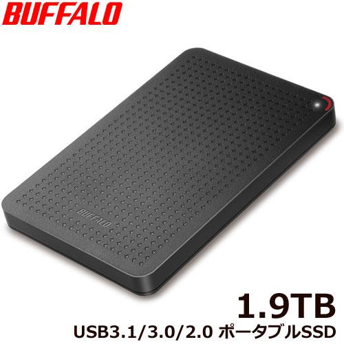バッファロー SSD-PL1.9U3-BK/N [USB3.1(Gen.1) ポータブルSSD 1.9TB ブラック]