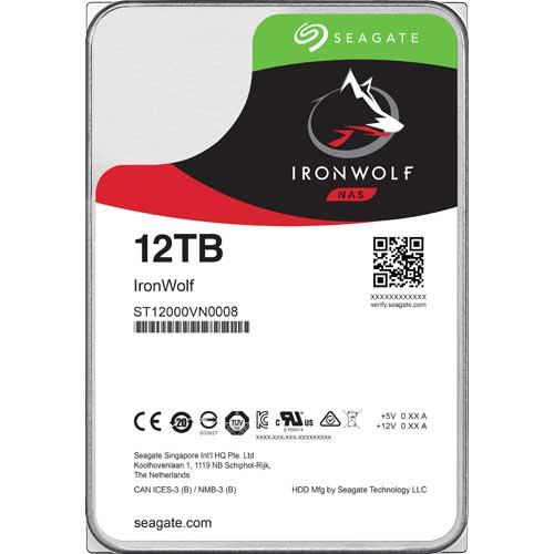 シーゲート ST12000VN0008 [NAS向けHDD IronWolf(12TB 3.5インチ SATA 6G 7200rpm 256MB)]