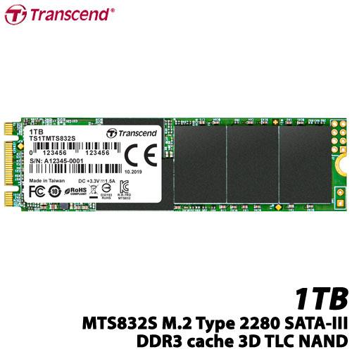 トランセンド TS1TMTS832S [1TB SSD MTS832S M.2 Type 2280 SATA-III DDR3キャッシュ 3D TLC NAND 片面実装 5年保証]