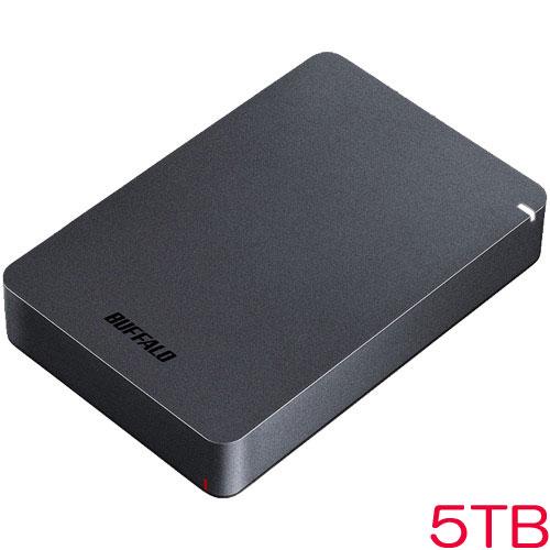 バッファロー HD-PGF5.0U3-GBKA [USB3.1対応 耐衝撃ポータブルHDD 5TB ブラック]