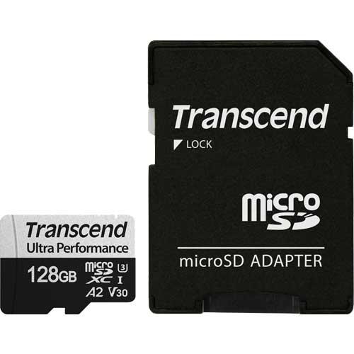 OUTLET SALE 送料無料 お気に入り 在庫僅少 トランセンド TS128GUSD340S 128GB microSDXC 340S Class SDカードアダプタ付属 A2 V30 U3 UHS-I 10 対応