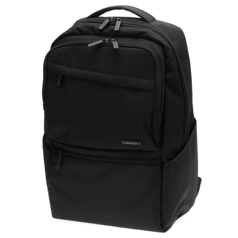 販売期間 限定のお得なタイムセール 幅広い年齢層でご使用いただけます ピークビズ 人気海外一番 ビジネスリュックリュック VPEAK-05BK ブラック 13pockets
