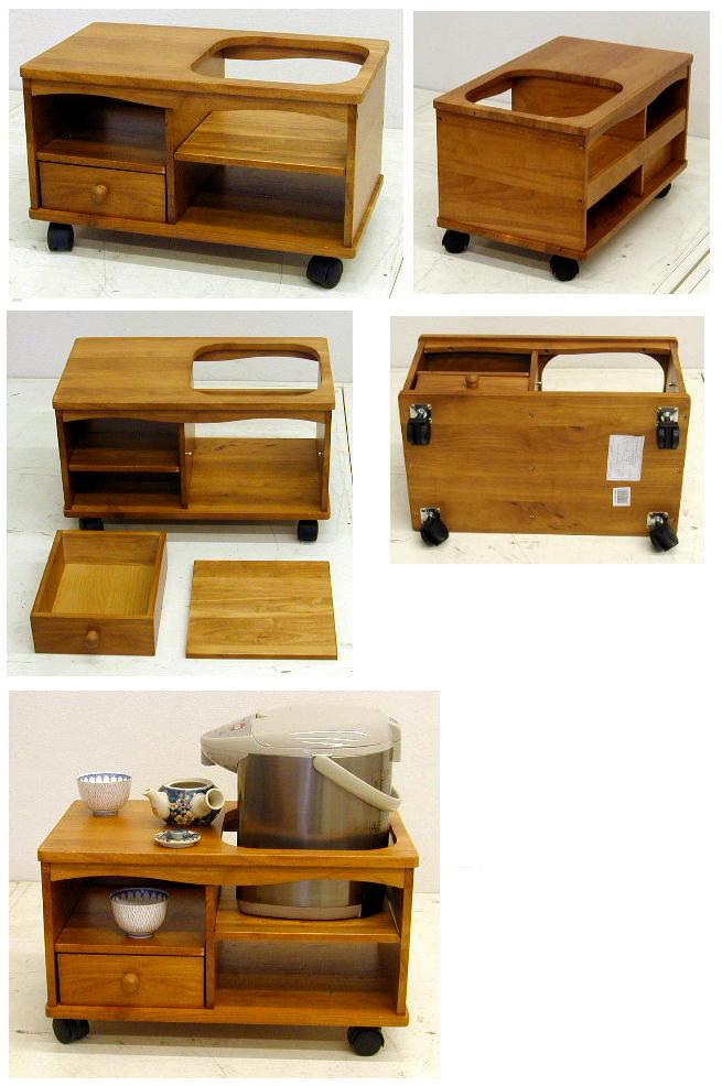 木製のポットワゴン ST 木目6.8kg[ポットワゴン ST No.5030]