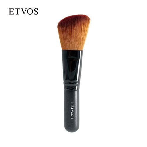 高級タクロン使用のチークブラシ エトヴォス ETVOS 与え 公式ショップ 大注目 斜めカットでお肌にフィットするチークブラシ etvos パウダーブラシ 30日間返品保証