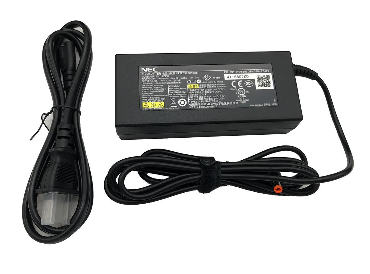 純正PC-VP-WP129 1年保証 あす楽 NEC 純正 PC-VP-WP129 LaVie L S 19V ACアダプター 4.74A PC-VP-WP80 オンラインショッピング 日本正規代理店品 充電器 電源 PC-VP-WP133 90W