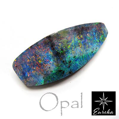 ボルダーオパール ルース 天然石 10月 誕生石 27.4ct オーストラリア産 送料無料