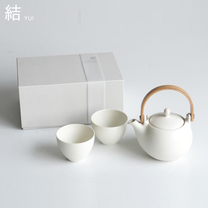『ロロ 結 YUI 土瓶急須ギフト 白』[LOLO]【サリュウ 土瓶 急須 きゅうす 湯のみ コップ お茶 日本製 陶器 雑貨 ギフト】
