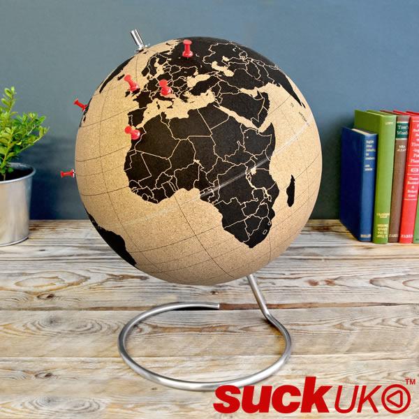 【送料無料】『ブラック コーク グローブ 大』【suckUK 地球儀 ギフト おもしろ雑貨】※3月下旬入荷予定