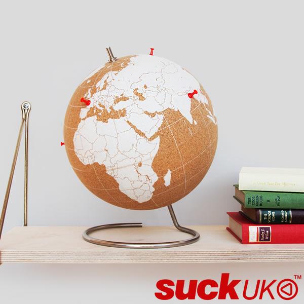 【送料無料】『ホワイト コーク グローブ 大』【suckUK 地球儀 ギフト おもしろ雑貨】