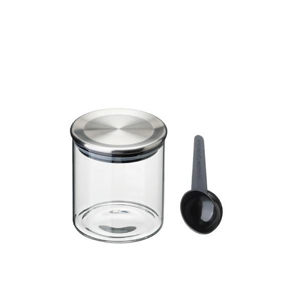 コーヒー 紅茶はもちろん 乾物や液体の保存に最適 スタンダードガラスキャニスター ステンレスリッド 400ml 限定モデル TEA COFFEE キッチン小物 ガラス 保存 保存容器 キッチン用品 キャニスター 激安特価品 雑貨