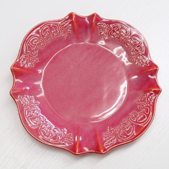 アンティーク家具やアンティークインテリアの専門店 即出荷 アンティーク雑貨 アンティーク アンティーク風 クラシック フレンチ シャビーシック プレート 20cm ソーサートリアノンプレート 期間限定特価品 1330 陶器 ローズ 皿